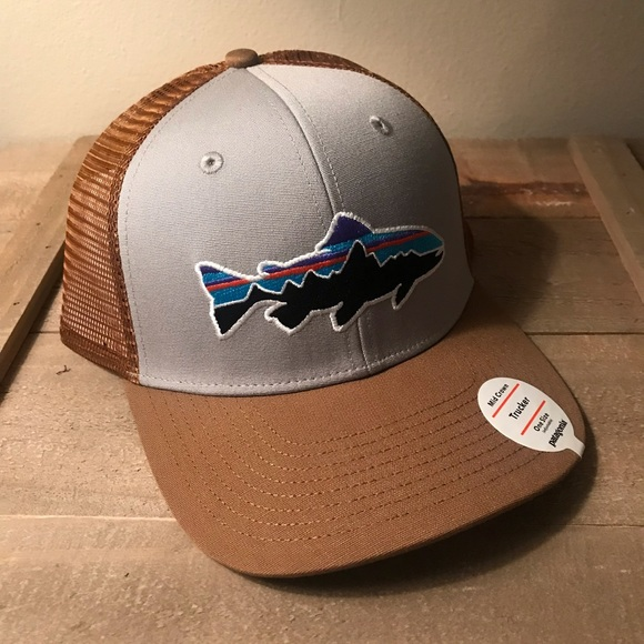 412ec8c6eae92 NWT Patagonia Men s Fitz Roy Trout Trucker Hat